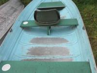 12 foot Sea King aluminum row boat from the 1960's in