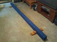 Barely used perfect condition gymnastics floor beam.