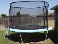 12 ft Jump King trampoline for sale. New enclosure is a