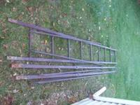 for sale is a 12 foot tall tri pod deer stand 40in x40