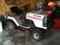 Riding lawn mower, new blades last year, good tires,