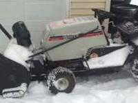 I'm selling my 12 HP White riding lawnmower with an