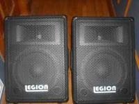PAIR OF 12in LEGION WEDGE MONITORS IN GOOD CONDITION