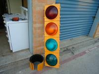 Eagle brand steel construction stoplight with 12