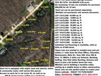 LOTS FOR SALE-Reeds Spring, Missouri 65737 GPS 36.74791