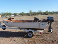In excellent condition, Montgomery Ward Sea King 12'