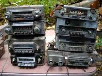 12 old car radios in unknown condition but cheap. ALL