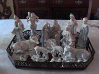 "12 PIECE PORCELAIN NATIVITY SET - by ""ROMAN"". For your"