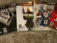 These are all PS3 games in very good condition.