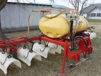 Nice 12 row hooded sprayer 300 gal. tank Clean unit.