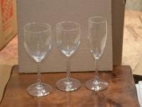 3 piece vintage 80s stemware-12 sets Like NEW, stored