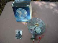 12volt fan for truck cab or car. Cools inside. 2 speed.