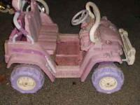 Little Tikes 12-volt Jeep holds a charge and runs good