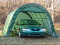 "12'W x 20'L x 8'H Rhino Instant Garage ""Round Style"""