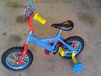 "For sale a 12""wheels boys bike Thomas and Friends with"