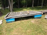 12x10 floating dock, 3x4 square,heavy duty barrels,