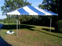 "12' x 12' Aluminum Frame Pole Tent w/30"" Awning on all"