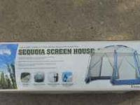 brand new in box 12 x 12 screen house has two big doors