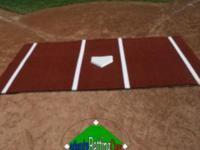 The Batting Mat Pro with the clay color is a portable