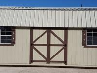 12'x24' Lofted Barn Storage shed portable building.