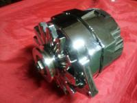 A New Chrome GM 120 AMP INTERNAL REGULATOR Alternator,