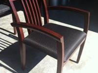 We have 4 mahogany framed guest chairs for sale that