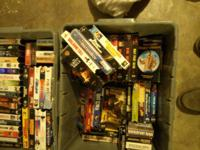 I got 120 vhs movies for sale .50 a movie text me at