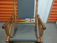 Late 1800's high back pedestal platform rocking chair