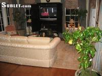 Furnished bedroom in a beautifully decorated house in a