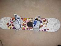 120cm Youth Chopper snowboard with bindings. It's a