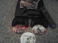 Playstation 3 , 2 Controllers, Wireless Headset, 7