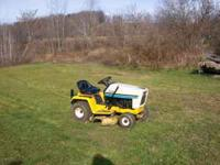 "up for sale is a 12 horse 38"" deck cub cadet lawn"