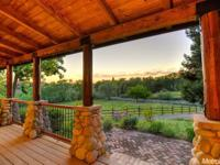 Beautifully ''remodeled'' log home with custom,
