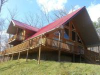 This picturesque getaway Log cabin Rental is situated