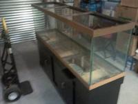 125 gal fish tank and stand , both in good condition ,