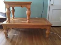 This is a large set. The coffee table is 29''x50''. The