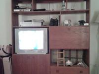 Solid Cherry Wall/Shelving Unit. EXTREMELY heavy. Solid