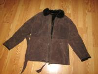 EMC women's genuine suede leather jacket for sale. This