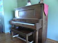 Vintage Chicago Cable Upright Converted Player Piano
