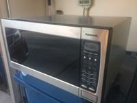 Stainless steel 1250 Watt Panasonic Microwave. Used