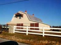 11 stall barn with Huge hay loft & feedtack area Great