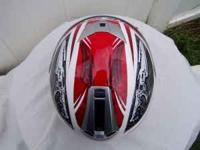 HJC FS-10 FS10 Internal Visor Motorcycle Helmet Red
