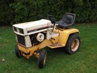 129 cub cadet, fair condition, runs, no smoke, tires