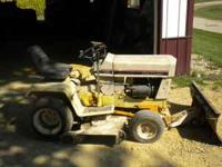 129 Cub Cadet Lawnmower with 44 inch deck and IH