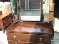 Dresser or Vanity with 3 Mirrors, Antique--The mirrors