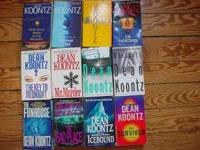 I have 12 Dean Koontz books . I 'm also selling lots of