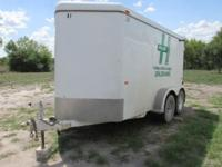 12' Tandem Axle (2-3500#) Enclosed Trailer. Asking