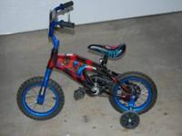 "12"" Spider Man bicycle in great shape. No tears in seat"