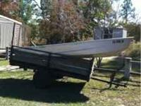 12 ft Jon boat for sale very heavy and sturdy. 200 Obo.