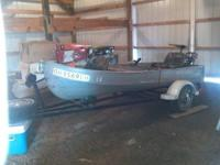 12 ft Sears V bottom Jon Boat with Trailor, Gamerfisher